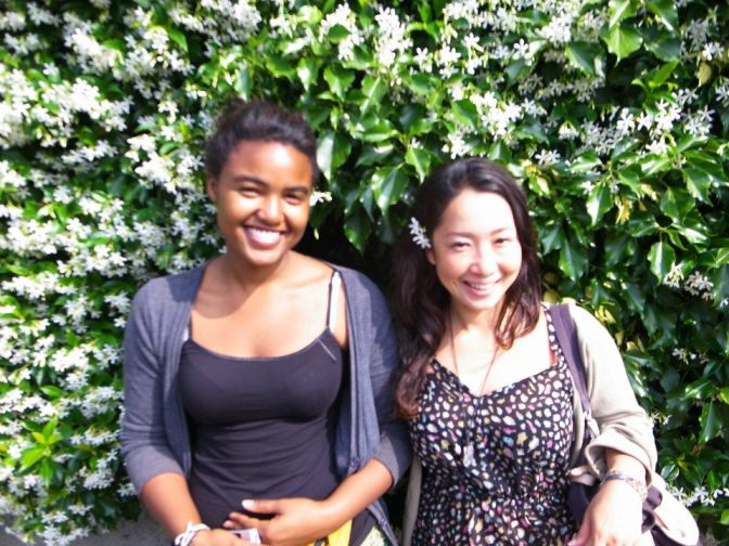Me and Miki, a friend I met couchsurfing in Italy.