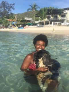 Swimming with pups in Koh Tao